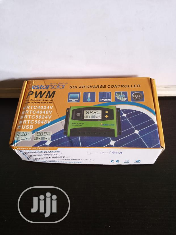 PWM 40A/12-24V Charge Controller
