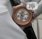 Original Ice Louis Vuitton Wristwatch With Leather Strap | Watches for sale in Lagos State, Lagos Island