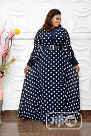Polka Dots Long Flay Gown | Clothing for sale in Lagos State, Ikeja
