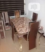 Strong Marble Dining Table With Four Chairs | Furniture for sale in Lagos State