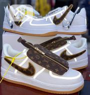 Airforce 1 X Louis Vuitton •TRAVIS SCOTT• Velcro Swoosh | Shoes for sale in Lagos State, Alimosho