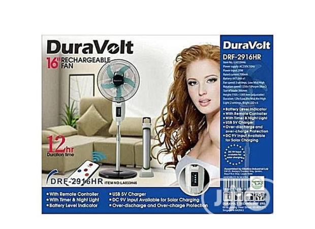 """Duravolt 16"""" Rechargeable Fan With Remote"""