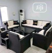 Standard Quality 10seaters Sofa With 4 Glass Top Tables | Furniture for sale in Lagos State, Ojo