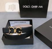 Dolce and Gabbana Designer Leather Belt Available as Seen Order Yours | Clothing Accessories for sale in Lagos State, Lagos Island