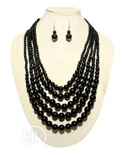 5-Step Necklace and Earring Set - Black | Jewelry for sale in Lagos State, Amuwo-Odofin