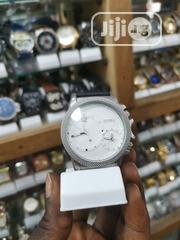 Diesel White /Black Leather Strap | Watches for sale in Lagos State, Ikeja
