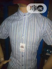 Levi Garden Stripes Down Shortsleeves Shirt. | Clothing for sale in Lagos State, Isolo