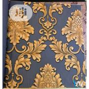 Gold on Blue Damask Wallpaper | Home Accessories for sale in Osun State, Osogbo