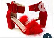 Block Heel Sandals With Fur | Shoes for sale in Lagos State, Surulere