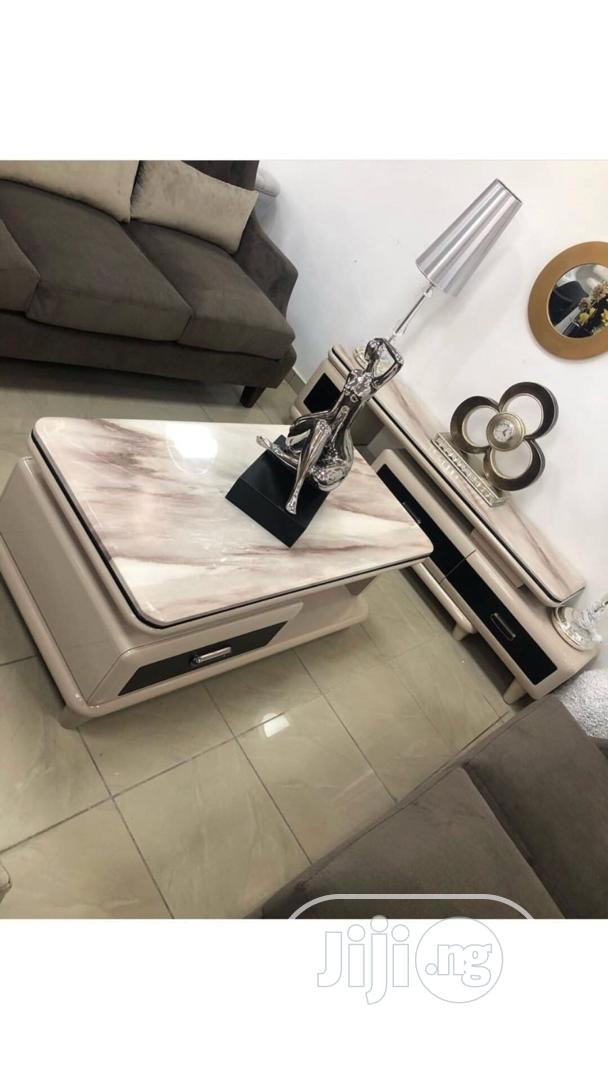 Marble TV Stand And Center Table