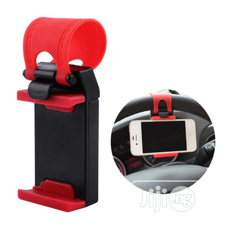 Car Steering Wheel Covers Convenient Smart Phone Stand Mount