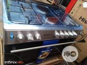 New MAXI Standing Gas 60 By 90 (4 Gas Burner +2electric Plate) Inox | Kitchen Appliances for sale in Lagos State, Ojo