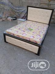 (6×4.5) High Quality Authentic Bedframe With Mouka Mattress | Furniture for sale in Lagos State, Ojo