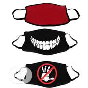 Reuseable Facemask - Black And Red - Pack Of 3   Clothing Accessories for sale in Lagos State, Amuwo-Odofin