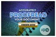 I Will Provide High Quality And Professional Proofreading Service | Other Services for sale in Lagos State, Ikeja