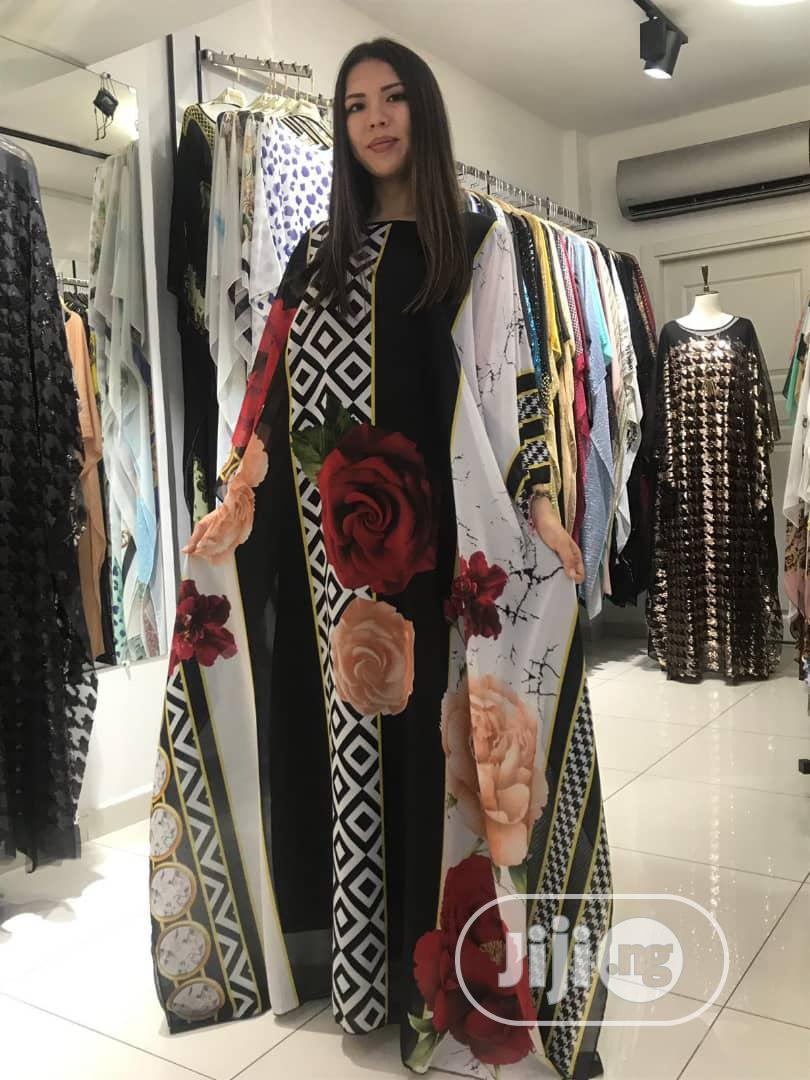Quality Turkey Chiffon Boubou With Inner | Clothing for sale in Central Business Dis, Abuja (FCT) State, Nigeria