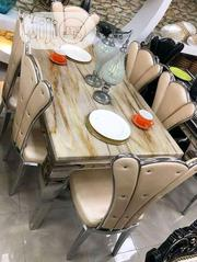 Exquisite Modern Six Seaters Dining Set With Marble Top | Furniture for sale in Lagos State, Ojota