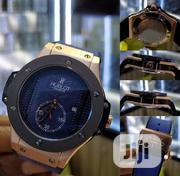Hublot Blue Leather Watch   Watches for sale in Lagos State, Ikeja