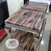 Brownish Top Marble Center Table With Sides Stools | Furniture for sale in Lagos State, Yaba