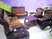 Wooden Sofa Chair by 7 With Center Table and 1 Side Stool | Furniture for sale in Lagos State, Ojo
