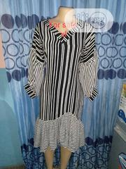 Strip Dress With v Neck | Clothing for sale in Rivers State, Port-Harcourt