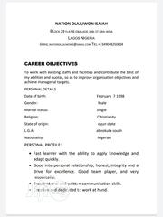 Office CV | Office CVs for sale in Lagos State, Ikeja