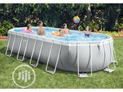 Intex Prism Frame Oval Pool Set With Ladder & Filtration System | Sports Equipment for sale in Lagos State, Victoria Island
