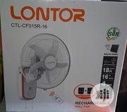 Lontor Rechargeable Wall Fan 16 Inches | Home Appliances for sale in Lagos State, Lagos Island