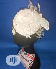 White and Silver Fascinator Bridal Hair Accessory | Wedding Wear for sale in Lagos State, Agege