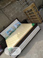 (6×6) Bedframe With Original Spring Matrass And Two Bedside | Furniture for sale in Lagos State, Ojo