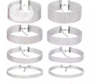 Irresistible Graceangie Shiny Rhinestone Transparent Choker Necklace | Jewelry for sale in Abuja (FCT) State, Gwarinpa