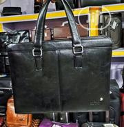 17 Inch Mont Blanc Leather Laptop Bag | Bags for sale in Lagos State, Lagos Island