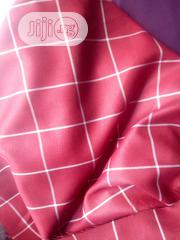 Red Cotton Senator Fabric Material X2 Free Cufflink | Clothing for sale in Lagos State, Ikoyi