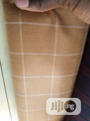 Brown Cotton Senator Fabric Material X2 Free Cufflink | Clothing for sale in Lagos State, Ikoyi