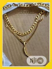 Sterling 3D Italian Horn Pendant and Neck Chain. Available as Seen . | Jewelry for sale in Lagos State, Ikeja