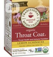 Traditional Medicinals Throat Coat With Lemon Echinacea, 16 Tea Bags | Vitamins & Supplements for sale in Lagos State, Lekki Phase 1