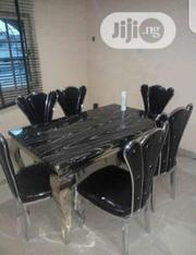 Unique Marble Top Dinning Table With 6 Chairs | Furniture for sale in Lagos State, Victoria Island