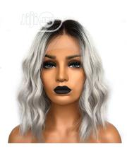 Cute Wavy Human Hair Wig With Frontal   Hair Beauty for sale in Lagos State, Ikeja