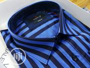 Royal Blue Stripes Pure Cotton Shirts by Cortis | Clothing for sale in Lagos State, Lagos Island