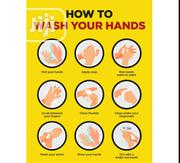 Hand Wash Poster. Detailed Description On How To Wash Your Hands. | Safety Equipment for sale in Lagos State, Victoria Island