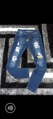 Blue Shredded Jeans | Clothing for sale in Lagos State, Ikeja