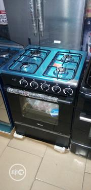 New Midea Standing Gas 4burners 60 By 60cm Oven Blue Flame Quality Gas | Kitchen Appliances for sale in Lagos State, Ojo