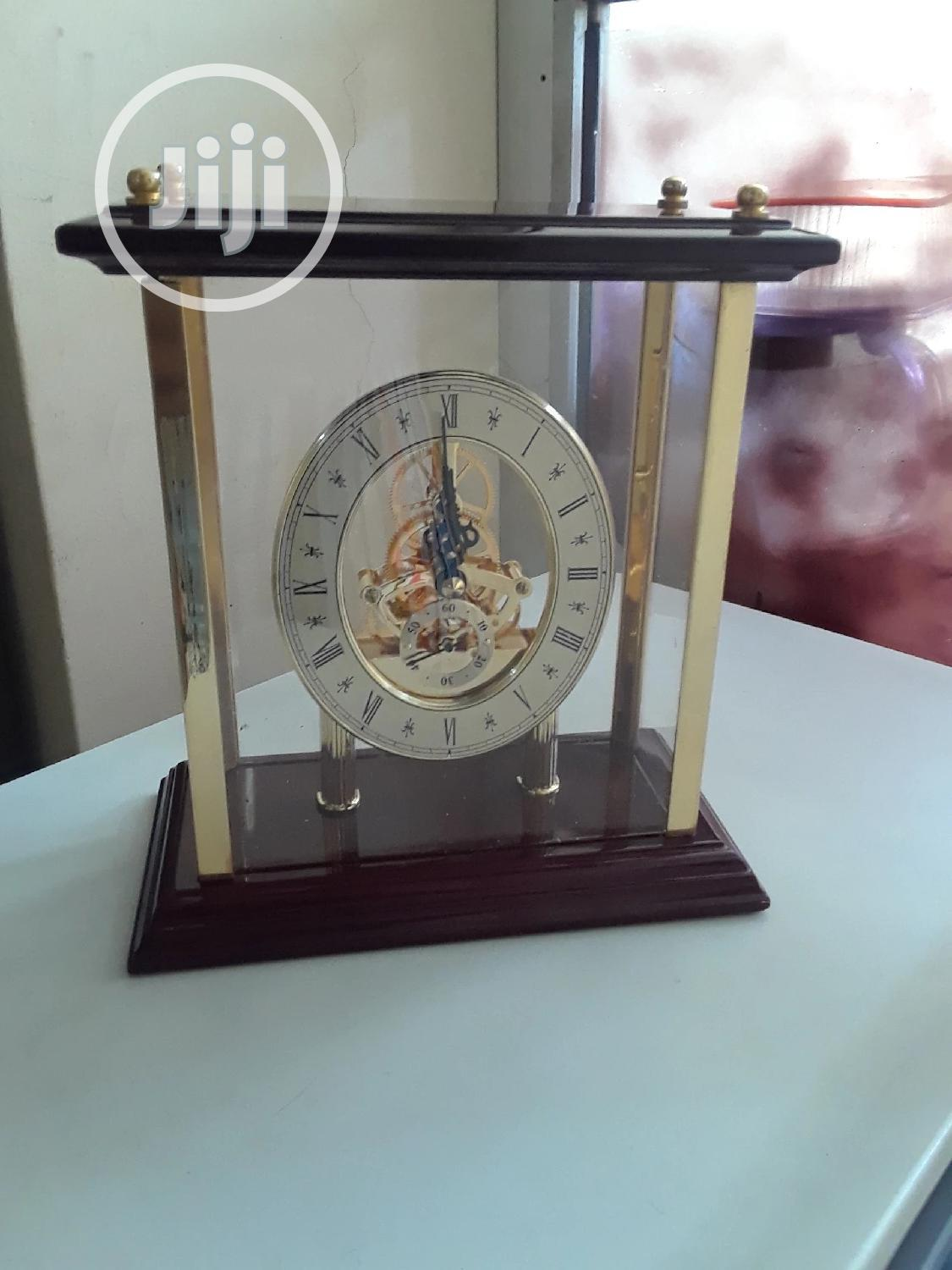 Transparent Rosewood Desk Clock | Home Accessories for sale in Lekki Phase 2, Lagos State, Nigeria