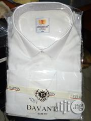 Levi Gardin Davanti White Shirt With Line Designs | Clothing for sale in Lagos State, Lagos Island