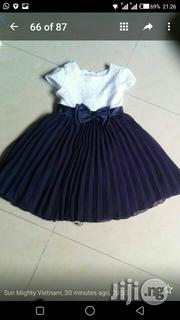 Navy Blue Plaited Skirt With Bow-tie | Children's Clothing for sale in Lagos State, Ikeja