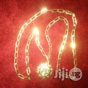 Brand New ITALY 750 Pure 18kt Gold Doggychain Wit Moon Pendant | Jewelry for sale in Lagos State, Lagos Island